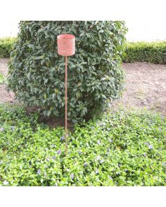 Tuin decoratie stick Dots chestnut